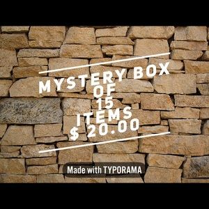 Fantastic Mystery Box of 15 items ONLY $25.00